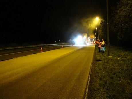 Proef met reflecterend asfalt bij Hengelo