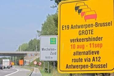 Belgische E19 op de schop