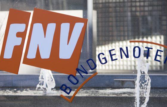 FNV protesteert bij Van den Bosch