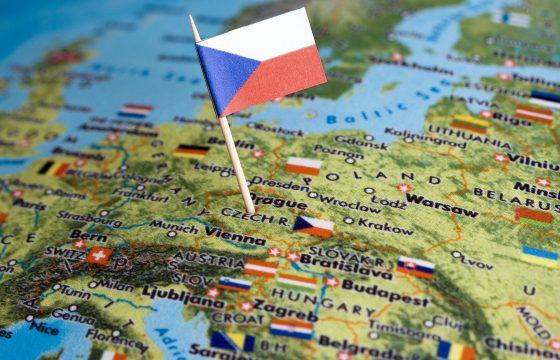 Tsjechische tol met kwart omhoog