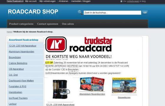 Roadcard verzendt gratis
