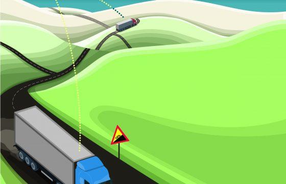 Scania cruise control met GPS functie