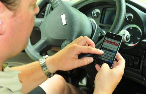 Sms'en achter het stuur
