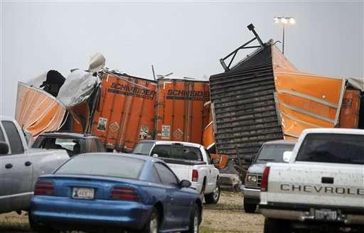 Tornado treft transportbedrijf