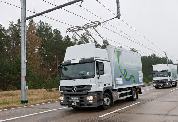 Siemens test met trolleytrucks