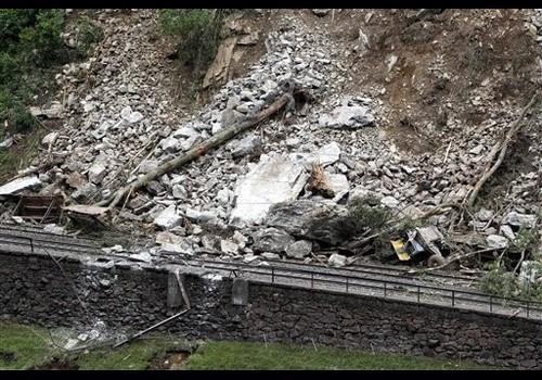 Gotthard-spoorlijn langer versperd door aardverschuiving