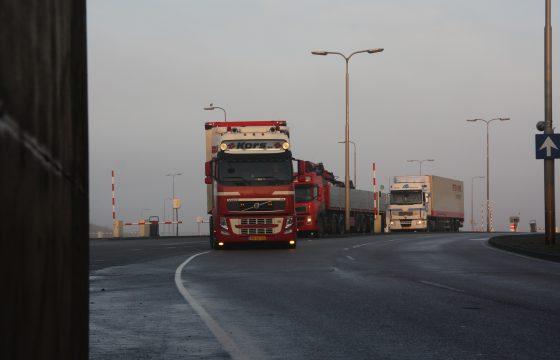 Geen km-heffing vrachtwagens