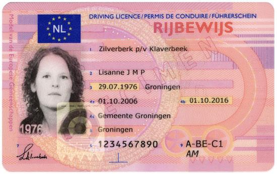 Nieuw rijbewijs in 2013