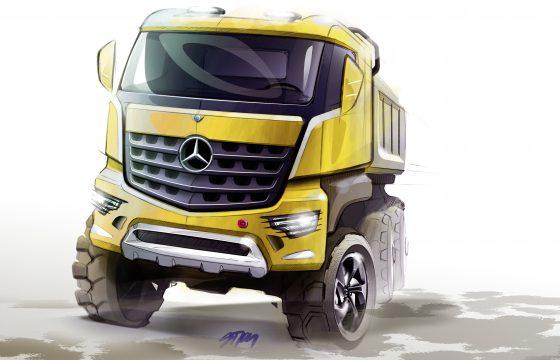 De nieuwe Mercedes bouwtruck heet Arocs