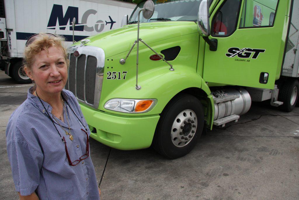 Veel vrouwen op de truck in Amerika