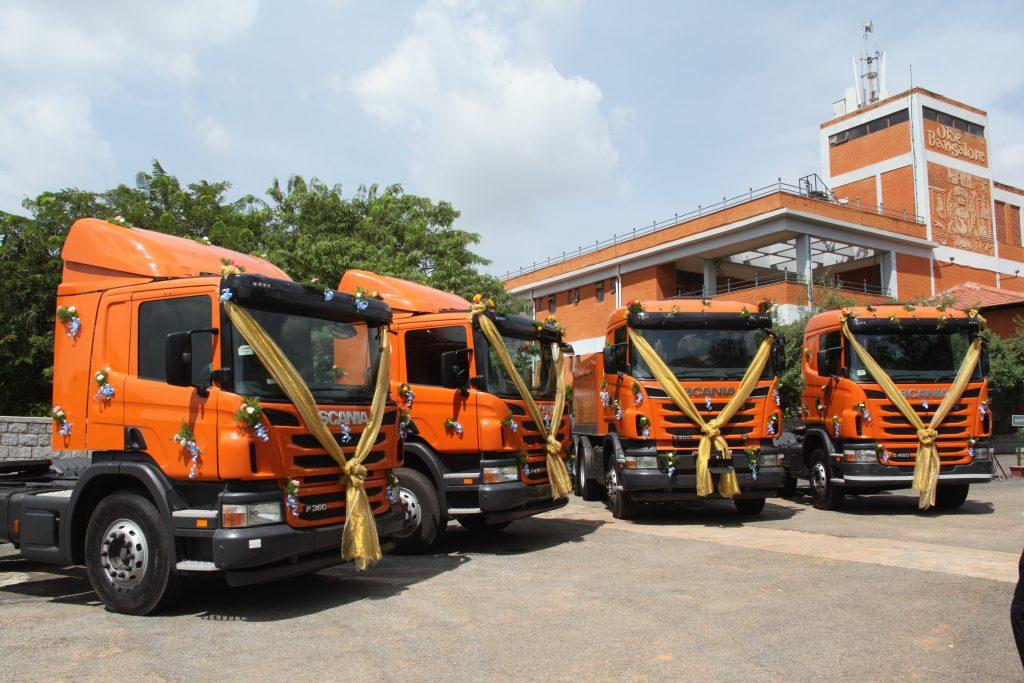 Scania test trucks in India