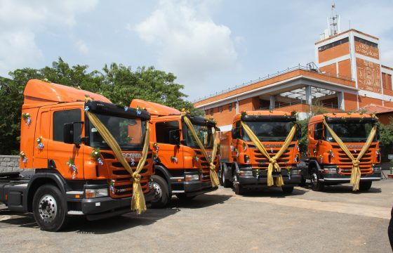 Scania test trucks in India