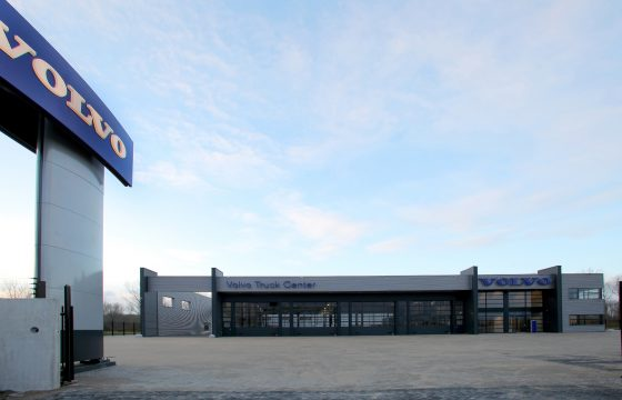 Volvo-dealer onderaan Stichtse Brug
