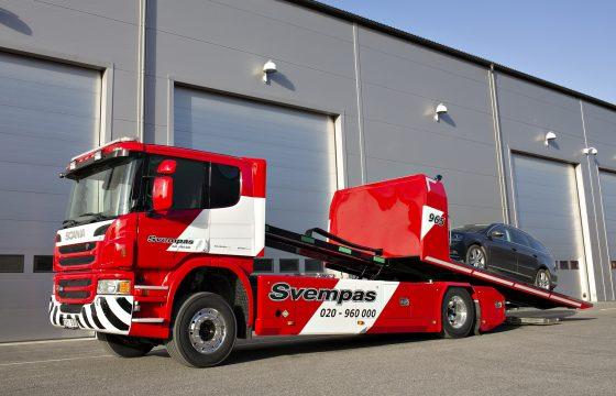 Scania bergingstruck op biogas