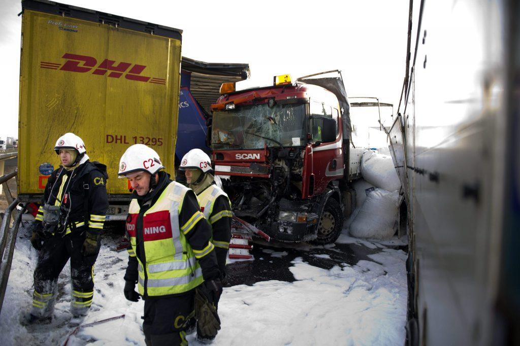 Mega-kettingbotsing in Zuid-Zweden
