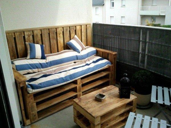 Creatief met pallets truckstar for Paletten couch balkon