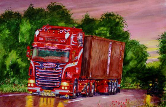 Cor schildert de Mooiste Truck