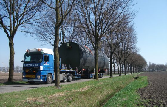 Ketel op transport