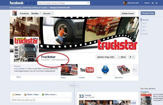 20.000 likes Truckstar Facebook-pagina