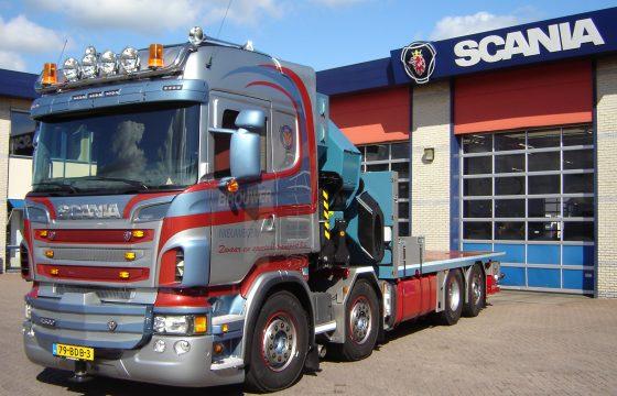 Zware Scania R500 motorwagen voor Brouwer