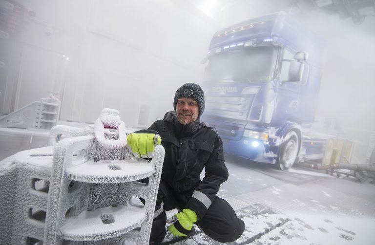 Extreem weer bij Scania Södertälje