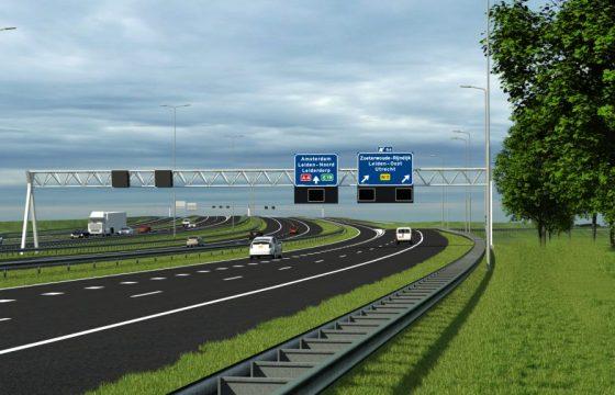 Nieuwe parallelbaan A4 Leiden