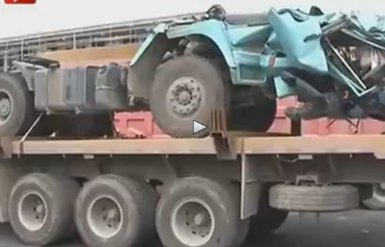 Truck onthoofd