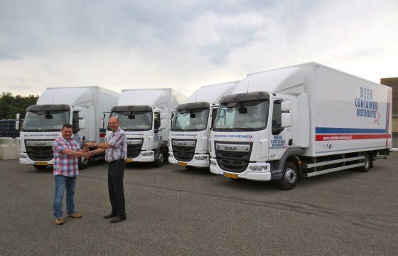Vijf nieuwe DAF LF bakwagens voor Beek