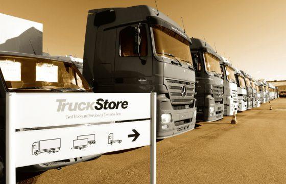 Truckstore werkt samen met Mercedes truckdealers