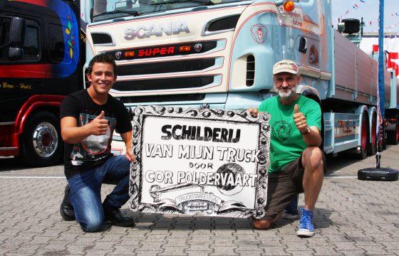 Cor Poldervaart schildert Mooiste Truck