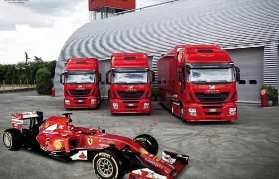 Drie maal Iveco Stralis voor Ferrari F1