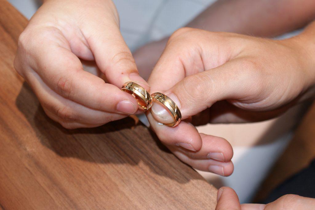 De ringen zijn gepast