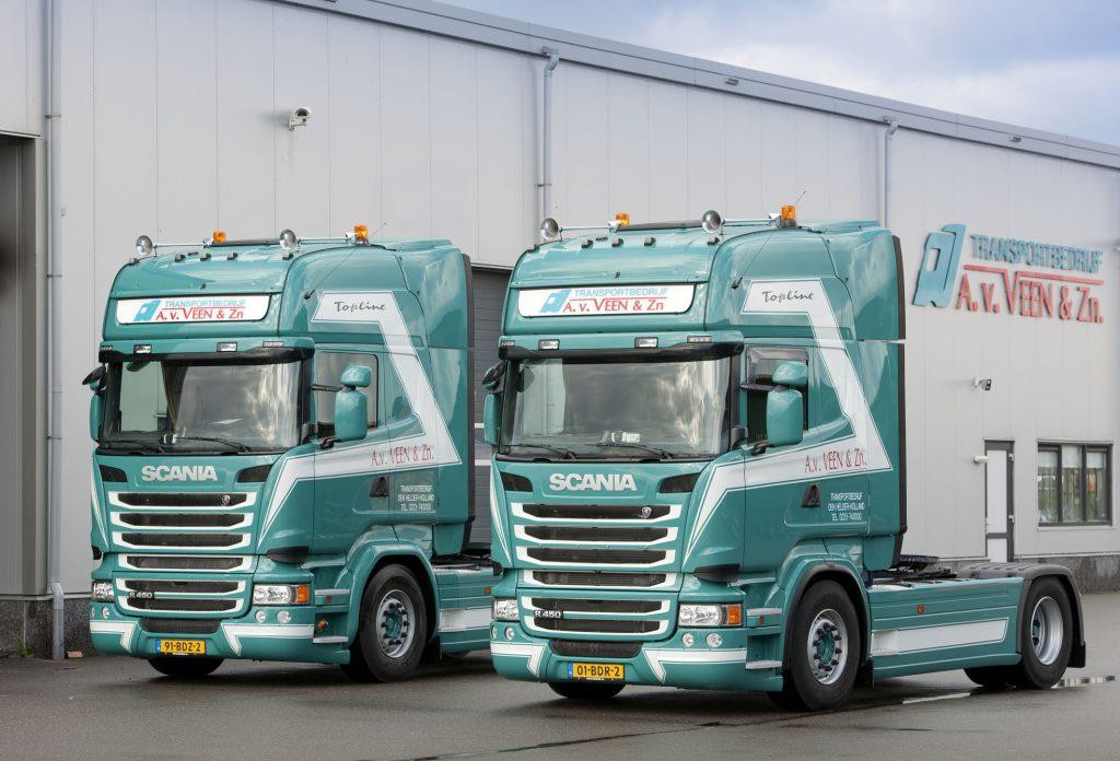 Nieuwe Scania's voor A. van Veen