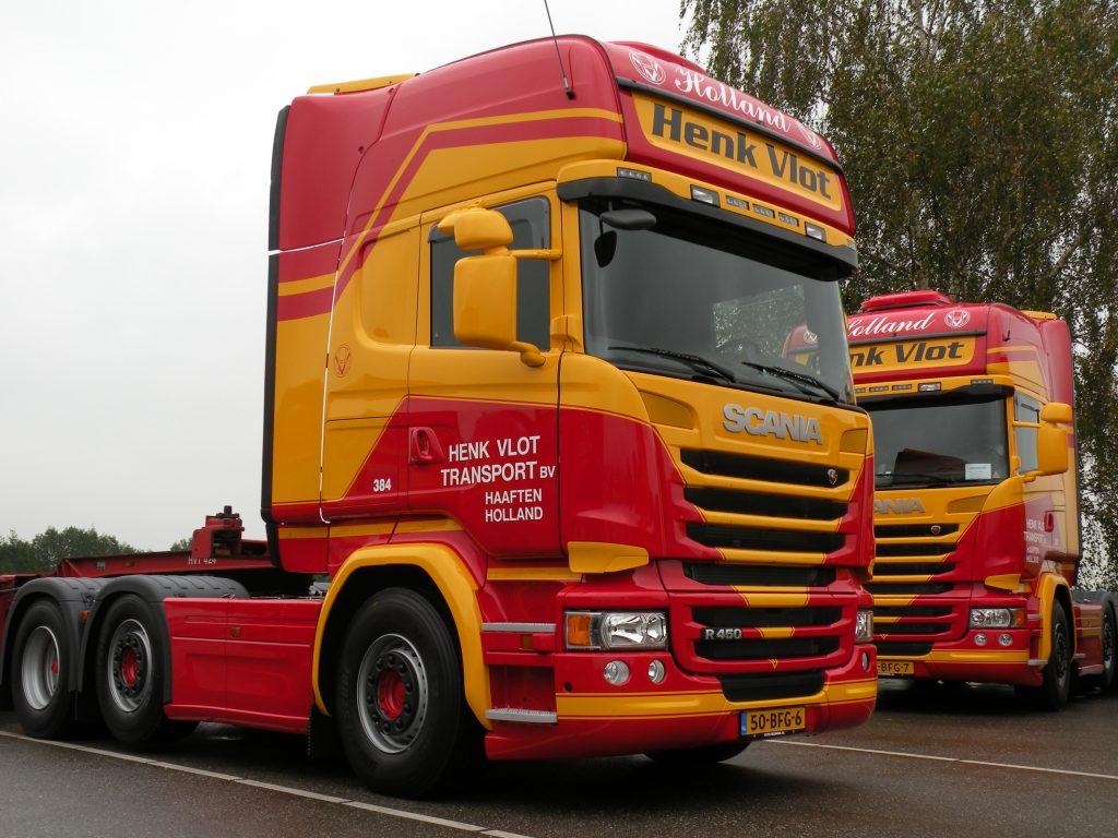 20 Scania R450's naar Henk Vlot