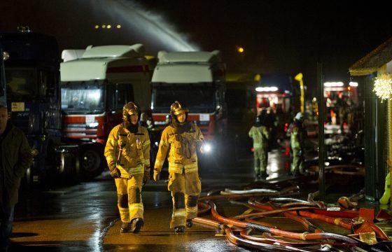 Brand bij Van Schaften Trucks