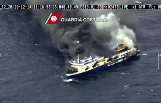 Nederlandse chauffeur gered van ramp-ferry