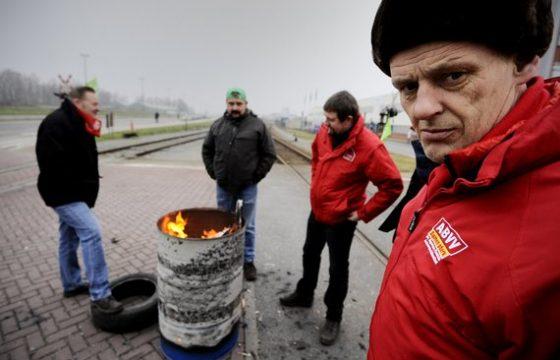 Belgische chauffeurs staken