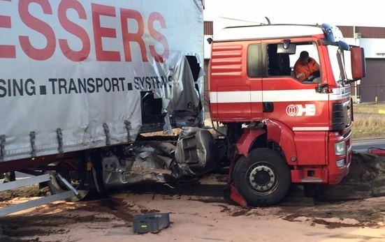 Trein ramt truck Antwerpse haven