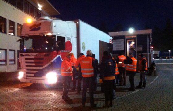 FNV-actie bij Heisterkamp en Farmtrans