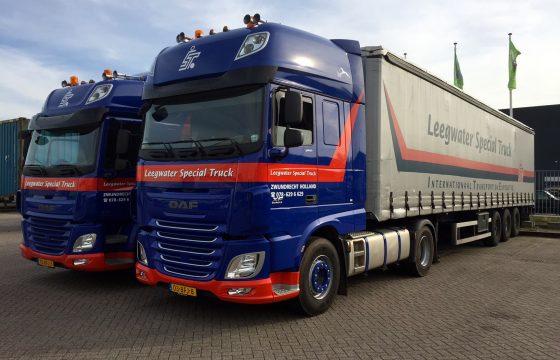 Twee keer DAF Euro 6 voor Leegwater