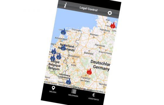 App voor transport-controles