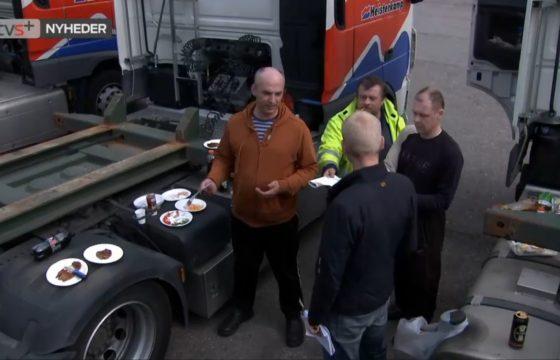 Heisterkamp-chauffeurs op Deense TV