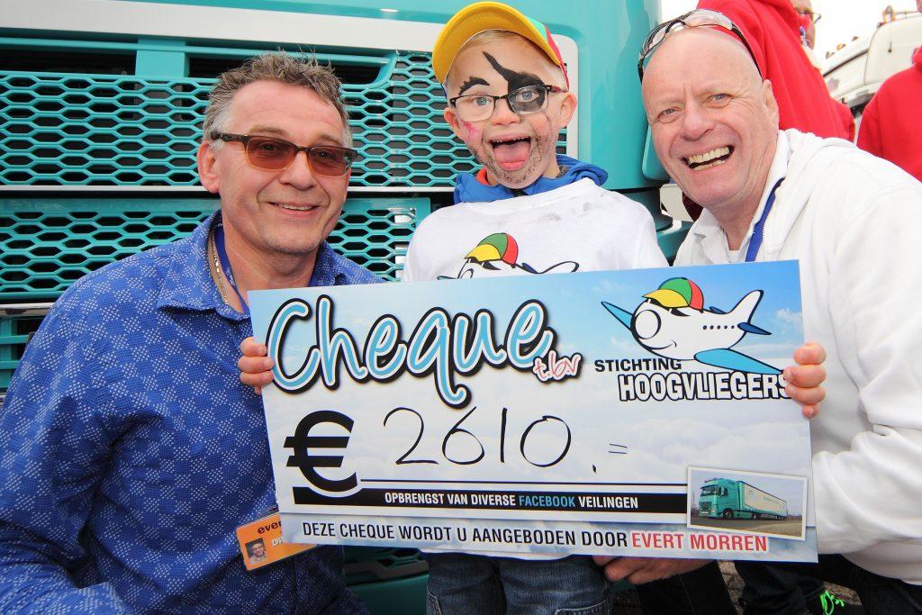 Chauffeurs-cheque voor Hoogvliegers