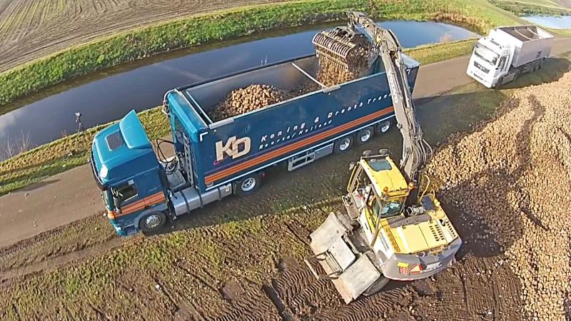 Mooi werken met Knapen bieten-trailer