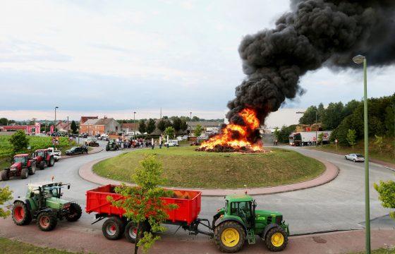 Belgische boerenblokkades teneinde