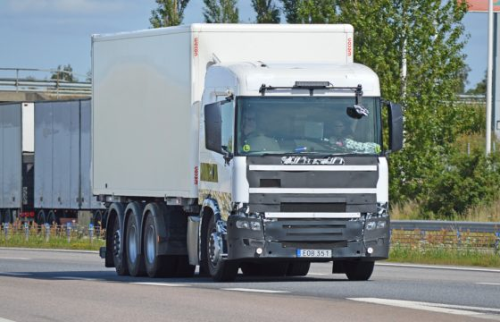 Camouflage-Scania's opnieuw gespot