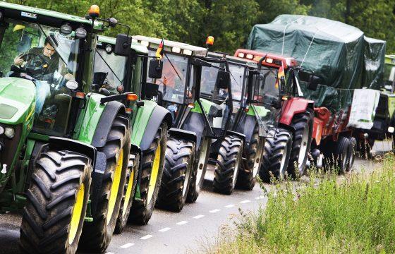 Per tractor naar Brussel