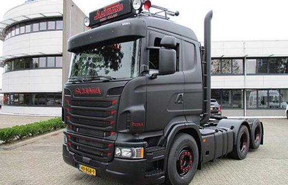 Woeste Scania van Aaitrans