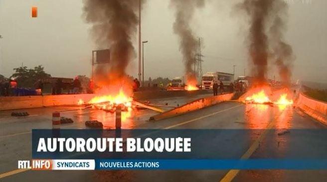 Grimmige wegblokkades België