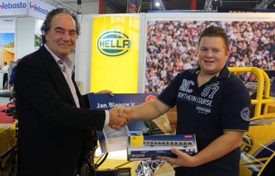 Jan Blaauw jr wint Hella Truck Selfie